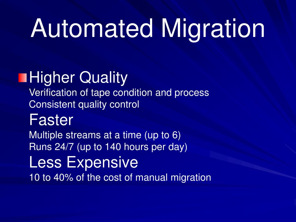 Automated Migration
