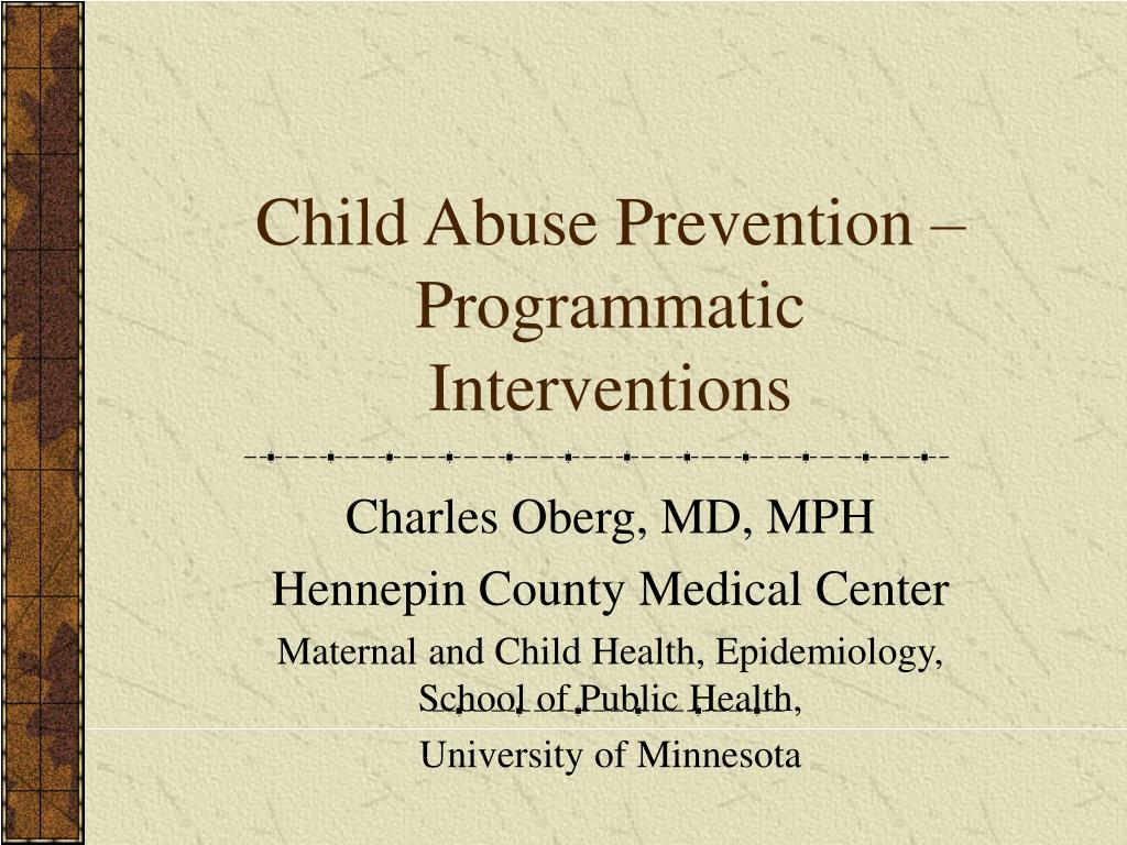 child abuse prevention programmatic interventions l.