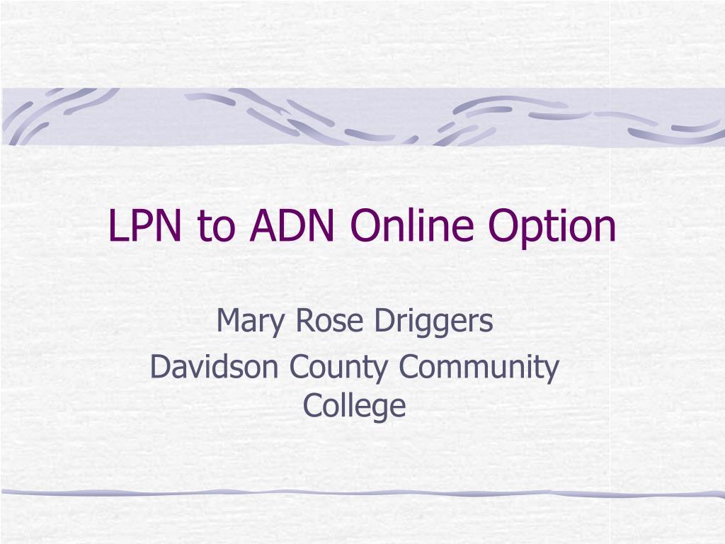 lpn to adn online option l.