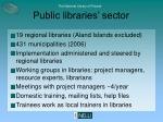 public libraries sector