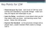 key points for lsw