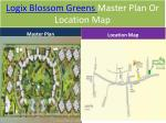 logix blossom greens master plan or location map