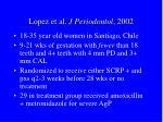 lopez et al j periodontol 2002