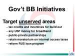 gov t bb initiatives7