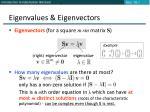 eigenvalues eigenvectors