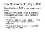 new government entity tcc