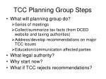 tcc planning group steps