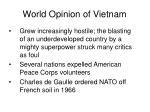 world opinion of vietnam