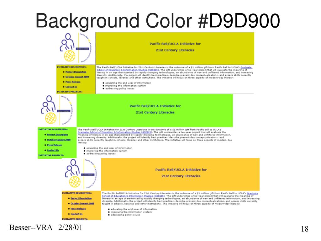Background Color #