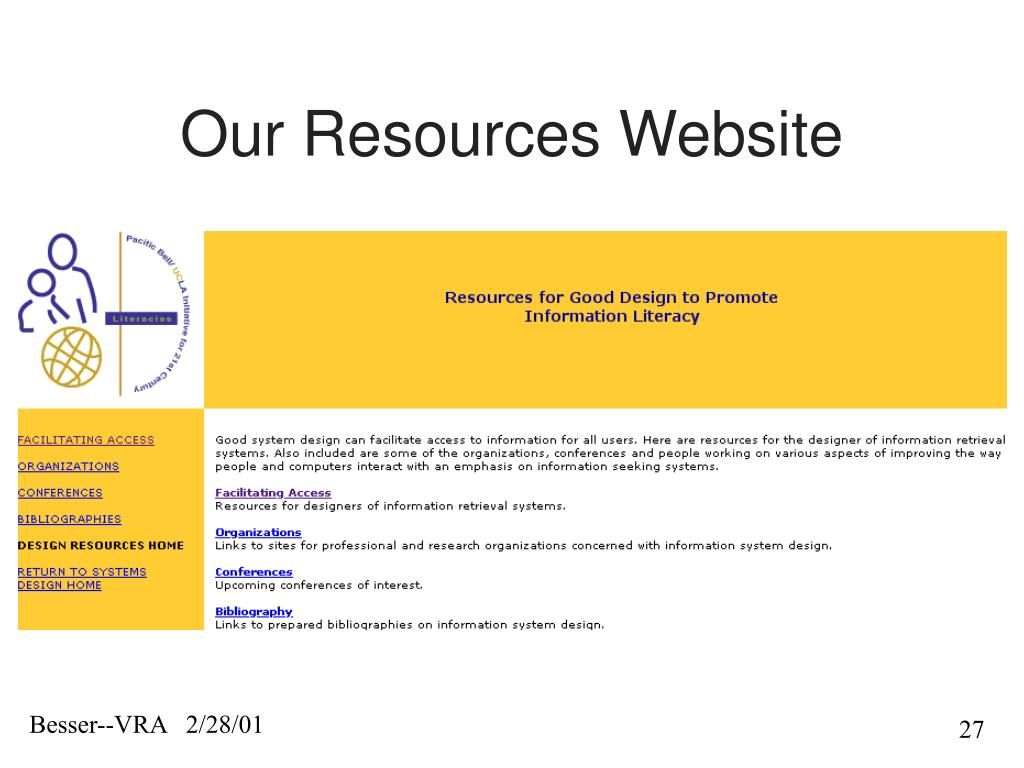 Our Resources Website
