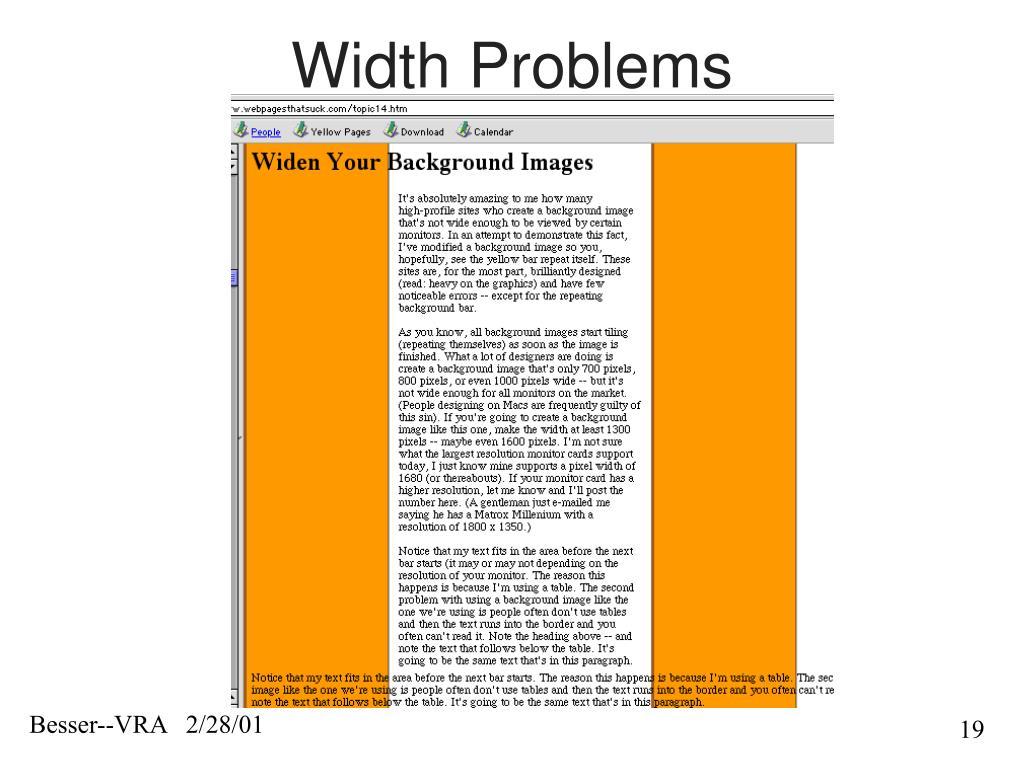 Width Problems