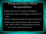 fireground safety officer responsibilities