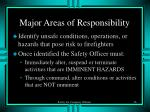 major areas of responsibility