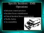 specific incidents ems operations