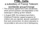 ftml cellis a subsidiary of france telecom worldwide group orange