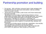 partnership promotion and building
