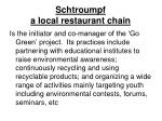 schtroumpf a local restaurant chain