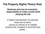 the property rights theory rule
