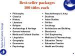 best seller packages 100 titles each