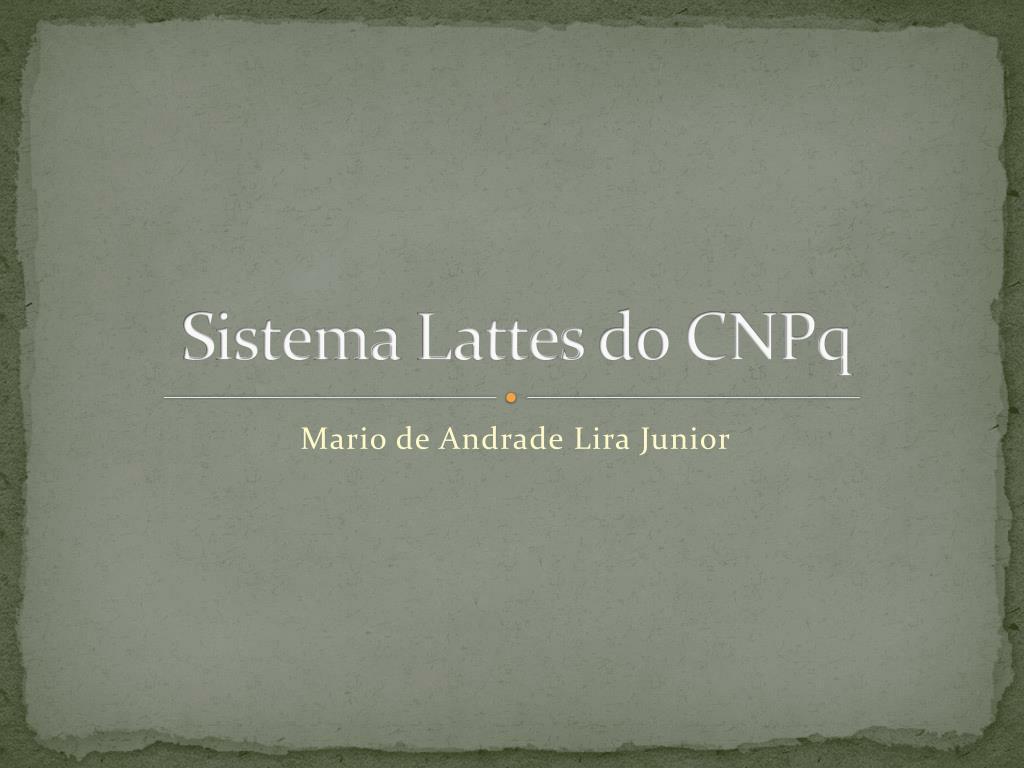 sistema lattes do cnpq l.