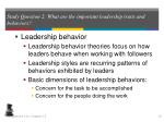 study question 2 what are the important leadership traits and behaviors15