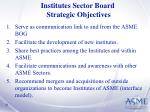 institutes sector board strategic objectives
