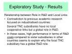 exploratory study results11