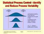 statistical process control identify and reduce process variability