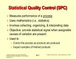 statistical quality control spc