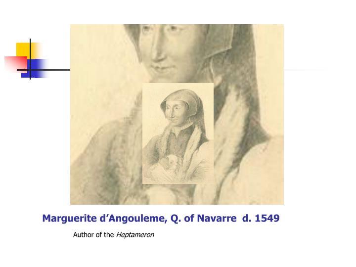 Marguerite d angouleme q of navarre d 1549