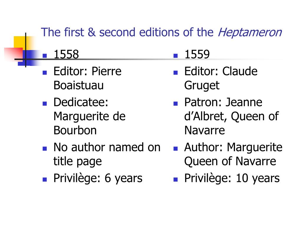 The first & second editions of the