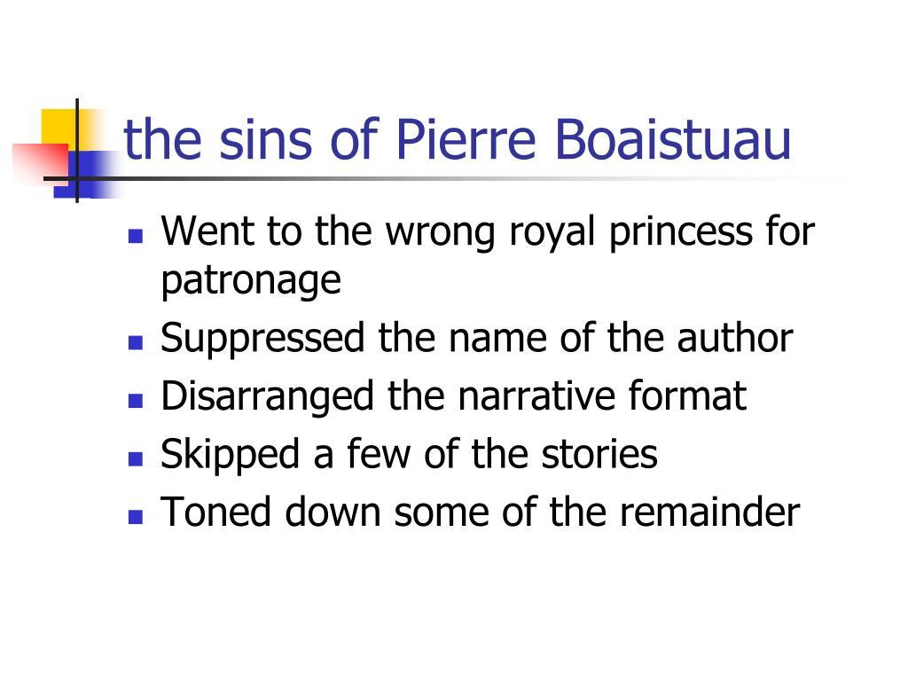 the sins of Pierre Boaistuau