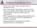 prohibited food storage areas