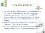 deck machinery 7
