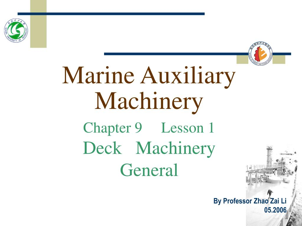 marine auxiliary machinery l.