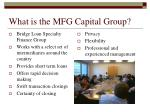 what is the mfg capital group10