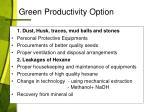 green productivity option