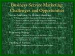 business service marketing challenges and opportunities