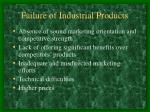 failure of industrial products
