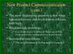 new product commercialization cont