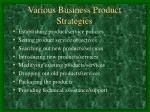 various business product strategies