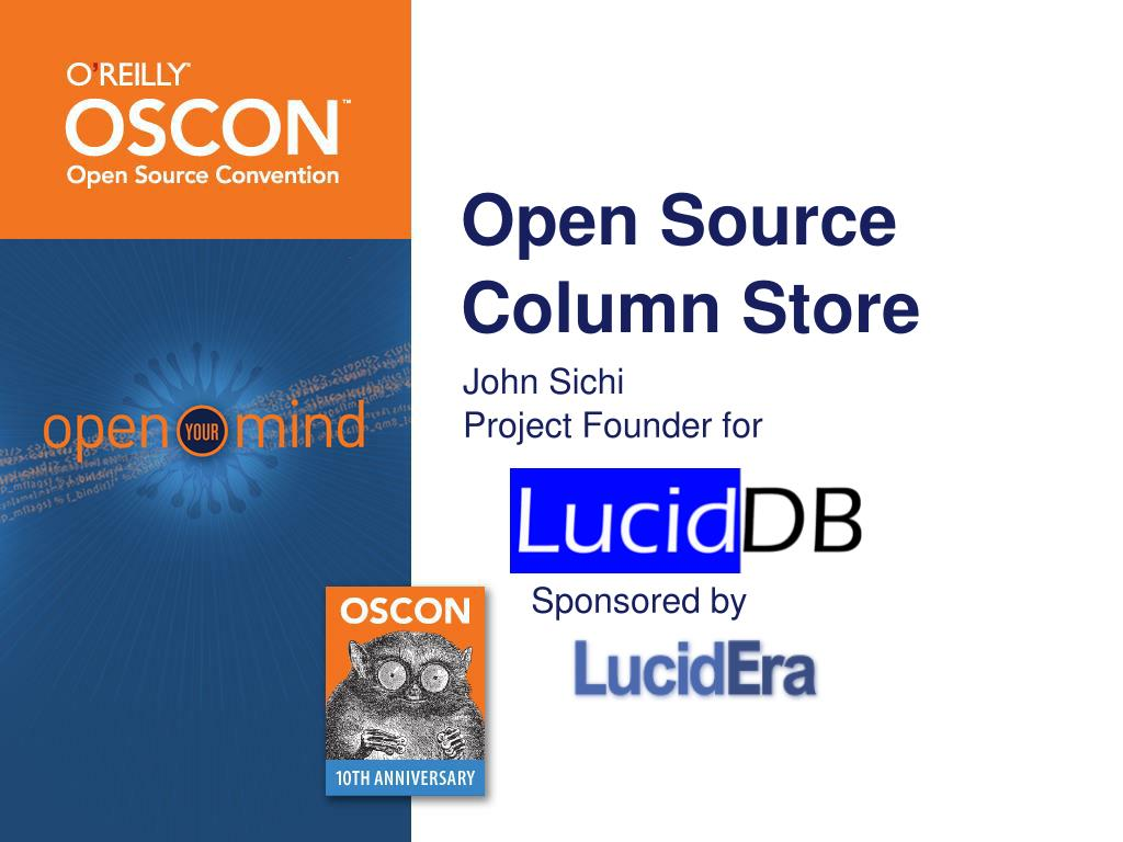 open source column store l.