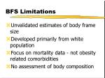 bfs limitations