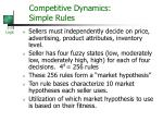 competitive dynamics simple rules