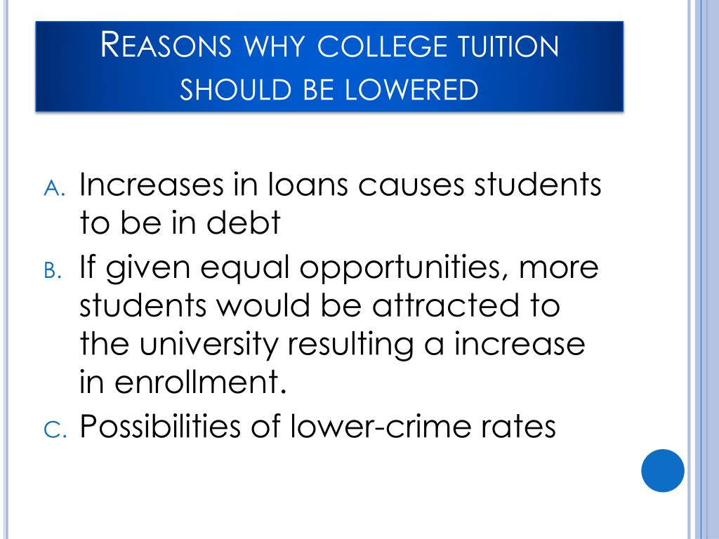 u s universities should lower their tuition