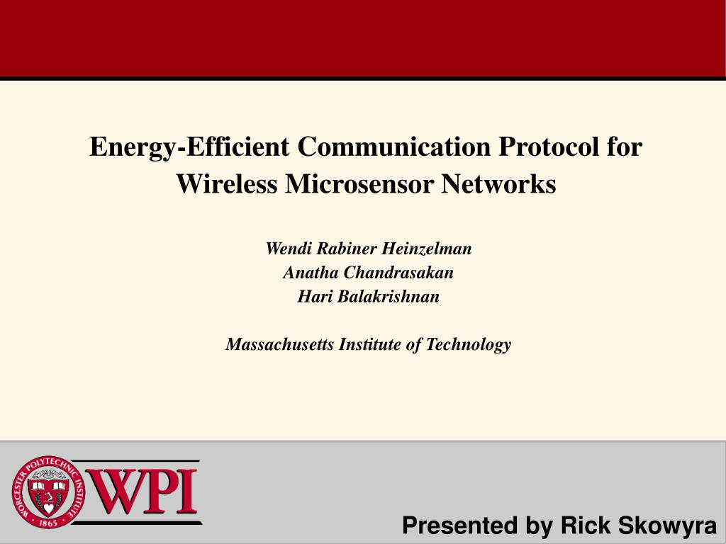 energy efficient communication protocol for wireless microsensor networks l.