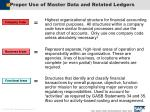 proper use of master data and related ledgers12