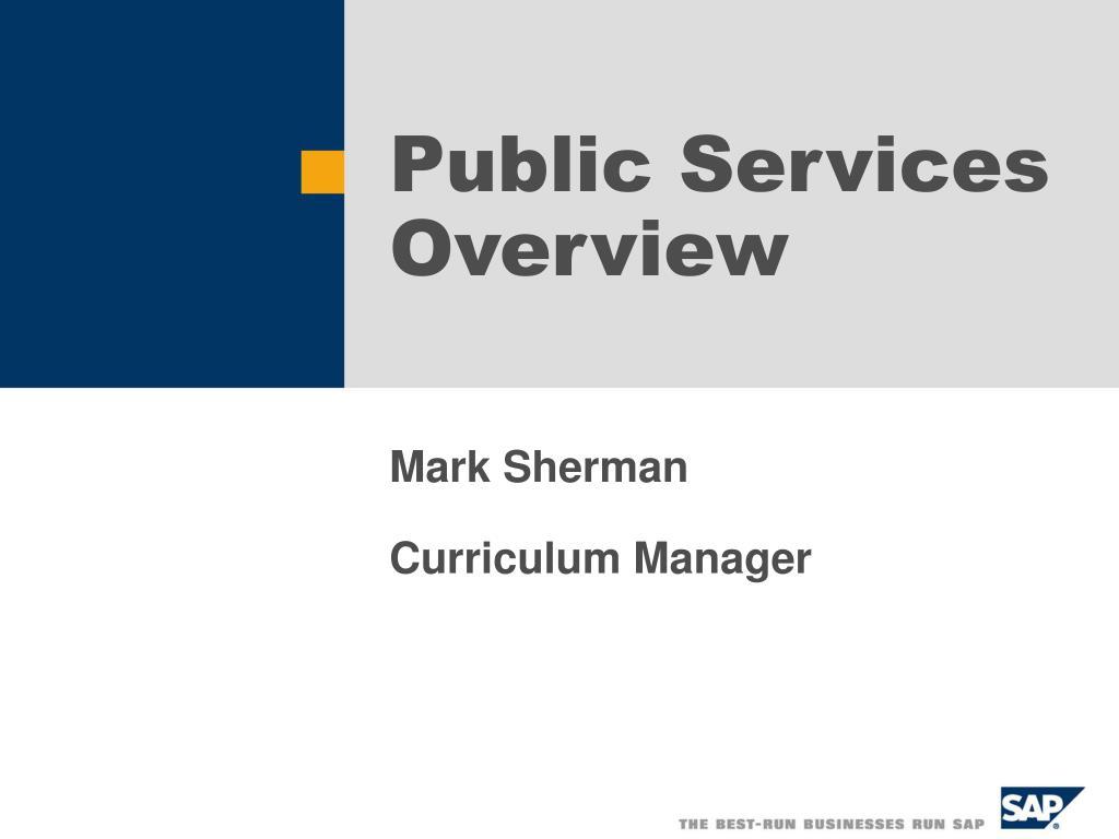 public services overview l.