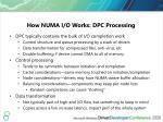 how numa i o works dpc processing