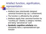 artefact function signification representation